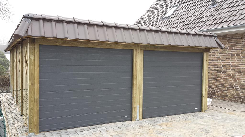 carports mit dachpfannenblende carportcenter seewald. Black Bedroom Furniture Sets. Home Design Ideas