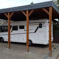 Hochdachcarport für Wohnmobile, Camper und Wohnwagen