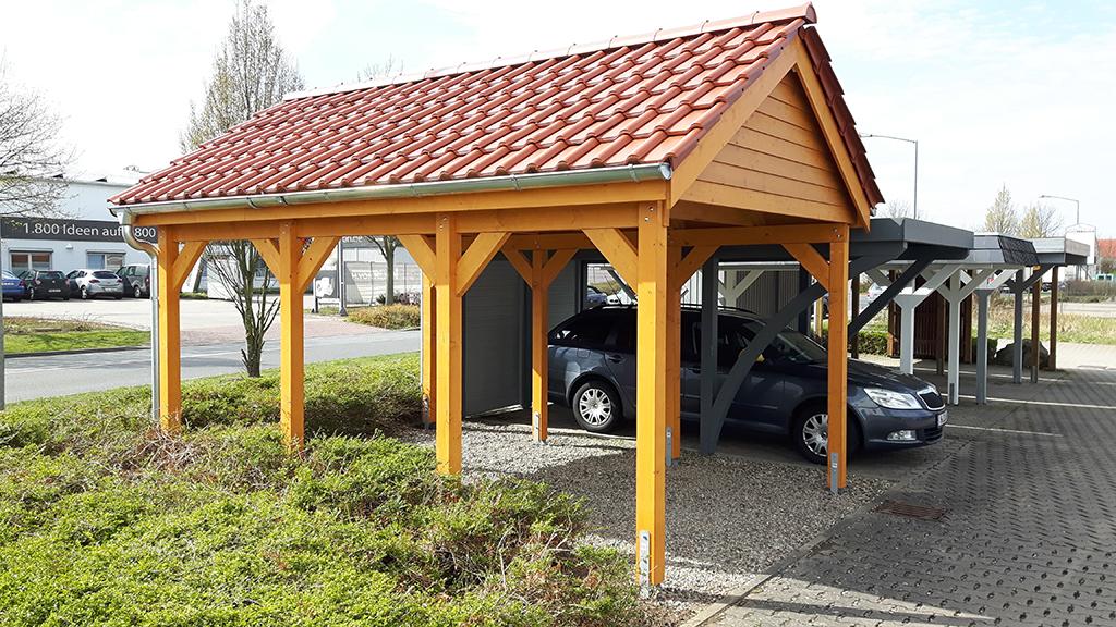 carports mit satteldach carportcenter seewald. Black Bedroom Furniture Sets. Home Design Ideas